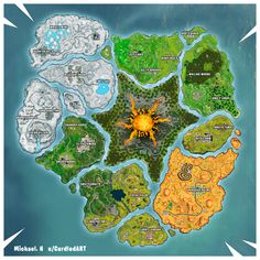 Epic Games Fortnite, Imaginary Maps, Fantasy Map