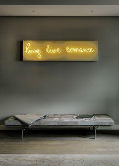 Tracey Emin | Long Live Romance | Artwork in neon tube