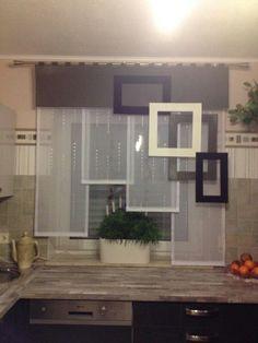 Rideau balcon wad law Store et panneaux japonais Blinds And Curtains Living Room, Kitchen Curtains, Tulle Curtains, Window Curtains, Drapery, Modern Window Design, Funky Decor, Home Decoracion, House Color Schemes