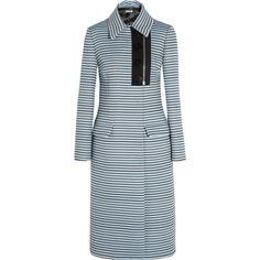 MIU MIU Striped jacquard coat // a fashionably propah lady coat Light Blue Coat, Perrie Edwards Style, Coats For Women, Clothes For Women, Fashion Corner, Blue Coats, Matches Fashion, Blazer Fashion, Vogue Fashion