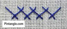 step by step how to work Herringbone stitch 3