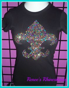 Large Design Mardi gras shirt Colorful by ConfettiGiftBoutique