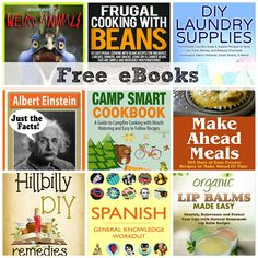 FREE EBOOKS: Frugal Cooking With Beans, Weird Animals, Organic Lip Balms, + More!