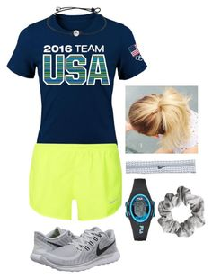 GO USA!!❤️ by gracecantu02 on Polyvore featuring polyvore, mode, style, NIKE, Fila, H&M, fashion and clothing