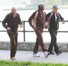 Morgan Freeman Photos - Stars Prepare on the Set of 'Going In Style' in NYC - Zimbio