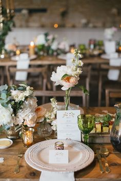 romantic wedding ideas with vintage plates and green goblets Wedding Centerpieces, Wedding Table, Fall Wedding, Wedding Reception, Our Wedding, Dream Wedding, Wedding Decorations, Wedding Rustic, Rustic Centerpieces