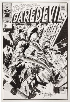 Daredevil vs.Stilt-Man reimagined Cover by Gene Colan and Dave Gutierrez