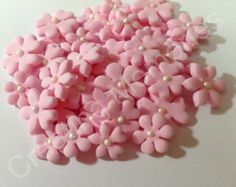 100 Edible Fondant mini-flowers - for cupcake, cookies or cake decoration/cake pops/Sugar Flowers/cake decorations/You Choose the Colors