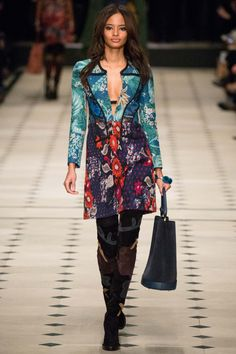 Malaika Firth for Burberry Prorsum fall 2015 rtw