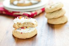 Maple Brown Sugar Cookies. Super soft fluffy cookies with delicious maple flavor and an optional maple icing! The perfect Fall cookie.