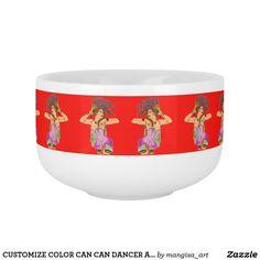 CUSTOMIZE COLOR CAN CAN DANCER ART PRINT SOUP MUG