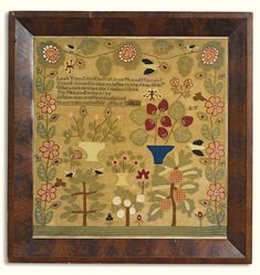 Leah Young daughter of Joseph and Mariah C / Young wrought this sampler in the year 1847 / When we devote our ...