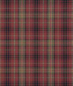 Ralph Lauren Kensington Tartan Burgundy Fabric - $51.2 | onlinefabricstore.net