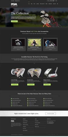 New website development. Diseñoideas launch the new website for the PGA Collection, Premium Brand Golf Clubs And Accessories.