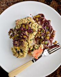 Roast Salmon with Couscous Crust