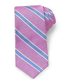 Lilac-sky blue striped tie