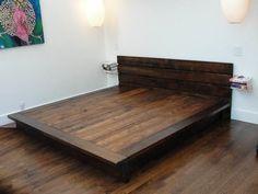 diy king platform bed frame diybedframes diybedframesplatform - Diy Kingsizekopfteil Plne