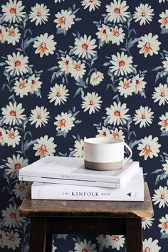 ARTHOUSE 60s 70s YELLOW FLOWERS FLORAL QUALITY RETRO WALLPAPER 902305