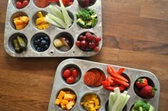 muffin tin lunches