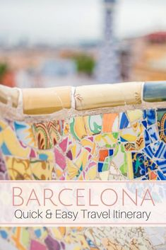 Quick Barcelona Travel Itinerary | What to See & Where to Eat. A quick Barcelona Travel Itinerary that includes travel tips of where to stay, what neighborhoods to see and explore, and where to eat. My highest reccomendations for Barcelona travel including tips for Park Guell & Sagrada Familia, and Barcelona Best Restaurants