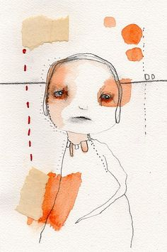 Original mixed media watercolor illustration, 6 x 9, by  Christina Romeo. $35.00