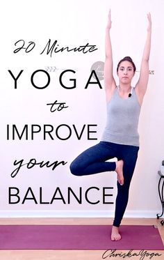 20 Minute Yoga to Improve Balance - Hatha Yoga for Beginners for Balance - Yoga At home Quick Weight Loss Tips, Weight Loss Help, Yoga For Weight Loss, Weight Loss Program, Best Weight Loss, Lose Weight, Reduce Weight, Yin Yoga, Hatha Yoga For Beginners
