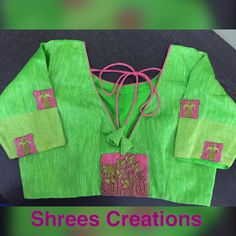 Designer blouse with hand made work