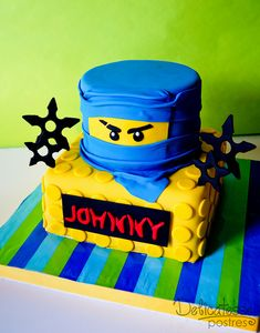 Lego Ninja Cake by Delicatesse Postres, via Flickr