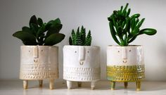 Atelier Stella. Tripod planters. All sold out again. I am now taking a break for a few weeks, but hope to have a small batch of work available in mid July.