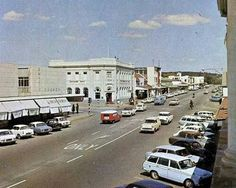 Rhodesia, Gwelo (now Zimbabwe, Gweru) city centre Zimbabwe History, Puerto Rico History, Victoria Falls, All Nature, Homeland, Historical Photos, Continents, South Africa, The Good Place