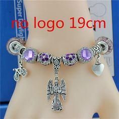Fashion Silver Plated Beads Charm Bracelet For Women bicycle loving heart Pendant Fit Pandora Bracelets & Bangles Women Jewelry