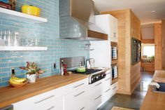 The modern farmhouse kitchen of North Carolina based Chef Vivian Howard via @gardenandgun