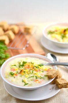 Creamy Vegetarian Roasted Corn Chowder   Food Doodles