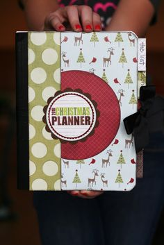 DIY Christmas Planners made from a composition notebook.