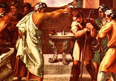 """Samuel Anoints David. - 1st Samuel 16:13, """"Then Samuel took the horn of oil, and anointed him in the midst of his brethren: and the Spirit of the LORD came upon David from that day forward. So Samuel rose up, and went to Ramah."""""""