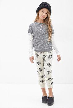 Kitten Print Sweatpants (Kids)   FOREVER21 girls - 2000082576