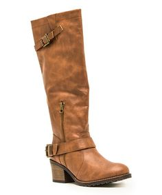 Another great find on #zulily! Cognac Pompeo Boot by Qupid #zulilyfinds