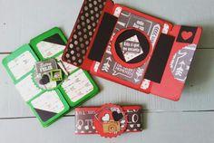 Originales tarjetas mini àlbum  para sorprender a una persona muy querida.