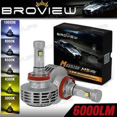 BroView M5 5-Color H11 44W 6000LM LED Headlamp Low Beam H8 H9 OEM Replace