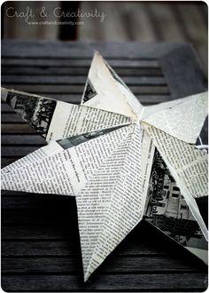 Adviento Estrella Makeover - por Craft & Creativity