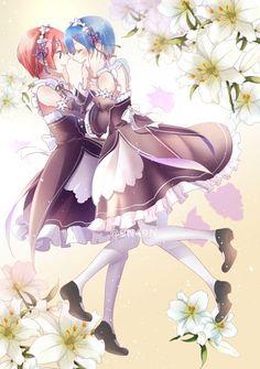 Pixiv Id 4897249 Mangaka Re:Zero Kara Hajimeru Ise... Series Ram (Re:Zero) Character Rem (Re:Zero)_View full-size (623x885 524 kB.)