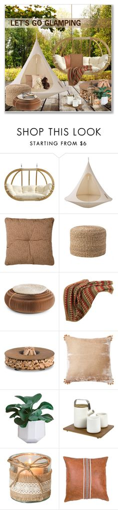 """""""let's go glamping"""" by nanawidia ❤ liked on Polyvore featuring interior, interiors, interior design, home, home decor, interior decorating, Amazonas, Hang-In-Out, Improvements and Bloomingville"""