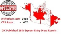 The third draw in the New Year 2016, Canada Express Entry scheme has issued 1468 invitations to the skilled professionals who scored 457 points and more.