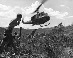 A Bell UH-1D on a resupply mission for 1st Cavalry Division troops during Operation Pershing, 1967.