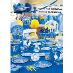 lil prince baby shower decorations   Lil' Prince 1st Birthday Ultimate Party Pack