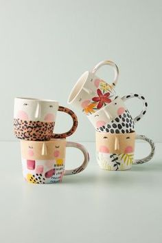 Ceramic Mugs, Ceramic Pottery, Pottery Art, Ceramic Art, All Gifts, Home Gifts, Holiday Gifts, Unique Gifts, Painted Mugs