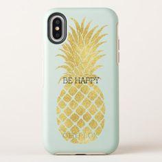 Gold Glitz Pineapple OtterBox Symmetry iPhone X Case - chic design idea diy elegant beautiful stylish modern exclusive trendy Diy Iphone Case, Iphone 7, Coque Iphone, Iphone Phone Cases, Apple Iphone, Girl Phone Cases, Cute Phone Cases, Mobiles, Iphone Price