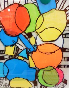 candice ashment art: DIY Stained Glass with TISSUE PAPER - 2nd Grade project