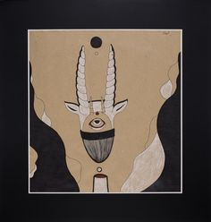 """Moon."" Graphic series ""Night Moods."" by Uliana Pucheglazova. 72,8/70,1 см."