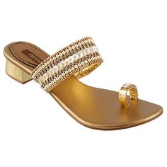 If you're looking for comfort and class, this is all you could ask for. Low heels, simple, gold, and made for the beach!